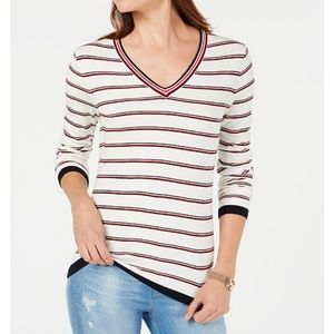 NWT Tommy Hilfiger Preppy Stripe Sweater Large 8b25dbd3eaf